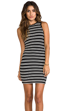 Eight Sixty Stripe Dress in Black/White