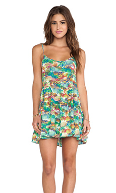 Eight Sixty Pineapple Express Dress in Green Multi