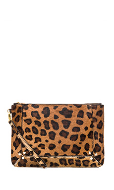 Elliott Label Clutch In Leopard