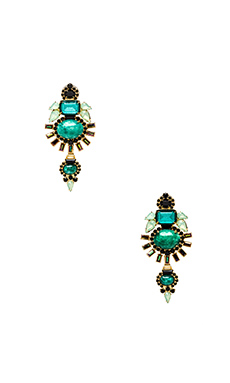 Elizabeth Cole Henning Earrings in Jade