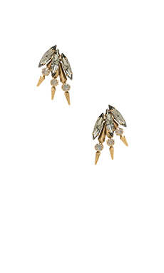 Elizabeth Cole Hogan Earring in Grey