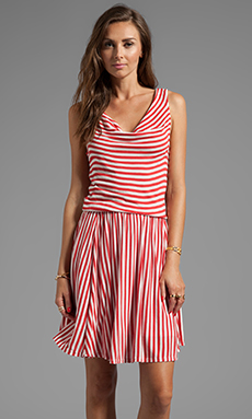 Ella Moss Gabi Stripe Dress in Poppy