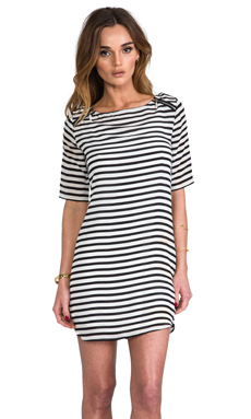Ella Moss Cara Striped Dress in Black