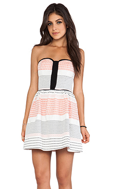 Ella Moss Zan Strapless Dress in Sunset