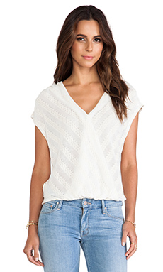 Ella Moss Eloisa Crossover Sweater in Natural