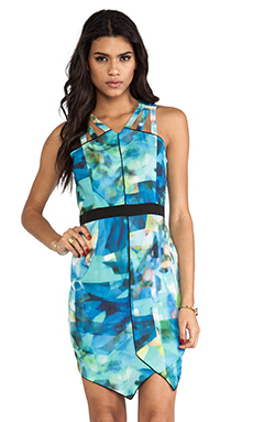 ELLIATT Printed Mini Dress in Water Facet Print