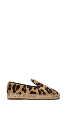 elysewalker los angeles Dee Espadrille with Calf Fur in Leopard Pony