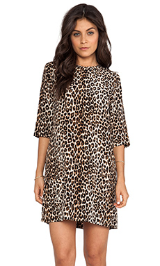 Equipment Aubrey Underground Leopard Dress en Natural