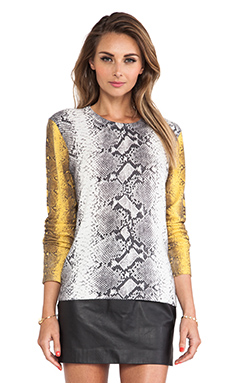 Equipment Shane Crew Neck Sweater in Ivory Multi