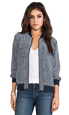 Equipment Abbot Reptile Print Bomber in Peacoat