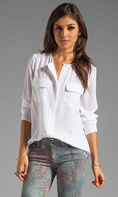 Equipment Lynn Blouse in Bright White