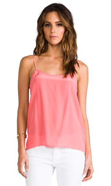 Equipment Cara Vintage Wash Cami in Coral