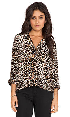 Equipment Adalyn Underground Leopard Blouse en Natural
