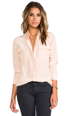 Equipment Signature Blouse in Nude