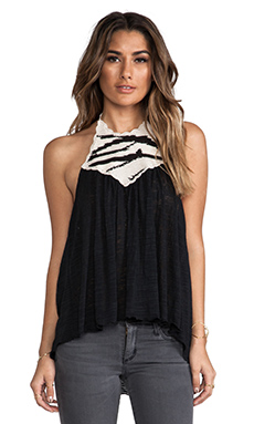 Eternal Sunshine Creations Ali Halter Top in Black