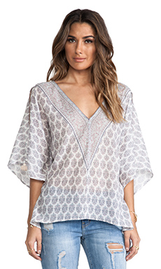 Eternal Sunshine Creations Boehem Kaftan Top in Cool Mint