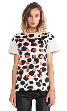 etre cecile Cheetah Foil Dots Oversized T-Shirt in Clay & Black