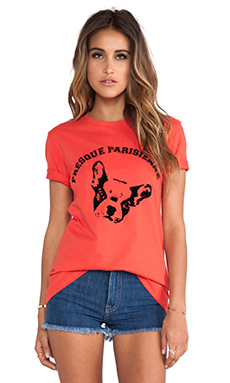 etre cecile Presque Pairsienne T-Shirt in Orange & Black