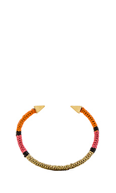 Ettika Spike Cuff in Gold & Orange