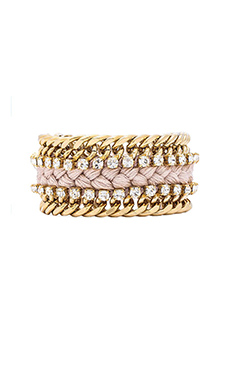 Ettika Double Chain Bracelet in Cream
