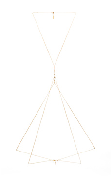 Ettika Body Chain in Gold & White
