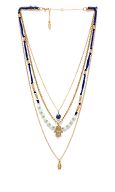 Ettika Hamsa Layered Necklace in Gold