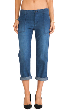 Ever Utility Crop in Indigo Worn Wash