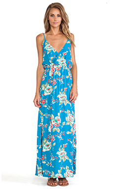 FAITHFULL THE BRAND Lullaby Maxi in Sundance Blue Print
