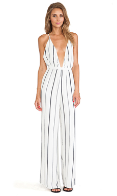 FAITHFULL THE BRAND Shutterbabe Jumpsuit en Helle Stripe Print