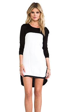 FAIRGROUND Opposites Attract Dress in Black & White