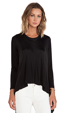 Faith Connexion Fluid Jersey Top en Noir