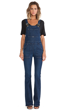 FRAME Denim Le High Flare Overall en Eton Avenue