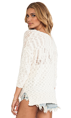 Feel the Piece Love Sweater in Natural