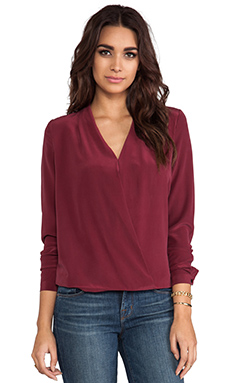 Feel the Piece Shrimpton Blouse in Merlot