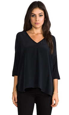 Feel the Piece Crow Long Sleeve Blouse in Black/Black