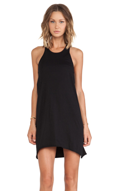 First Base Mesh Racer Tank Dress in Black