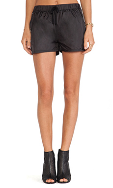 First Base Parachute Shorts in Black