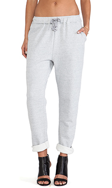 First Base Classic Trackie Pant in Light Grey Marle