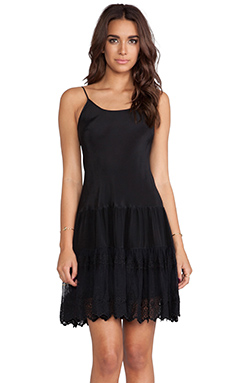 Flannel Maidenhair Cami Dress in Black