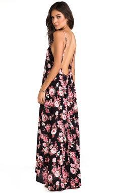 FLYNN SKYE Scoop Back Maxi in Pretty in Pink