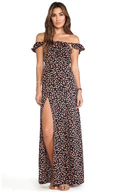 FLYNN SKYE Bardot Maxi Dress in Dirt Road