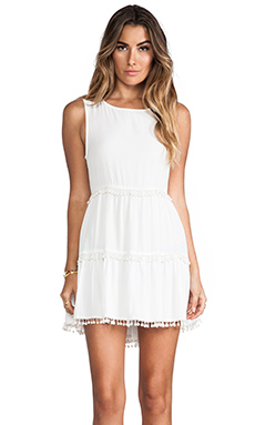 For Love & Lemons Chica Mini Dress in Ivory