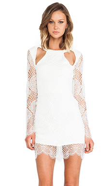 For Love & Lemons x REVOLVE Eternal Love Dress in White