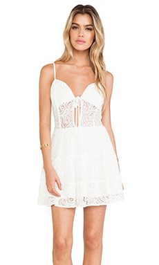 For Love & Lemons Baby Cakes Dress in Off White