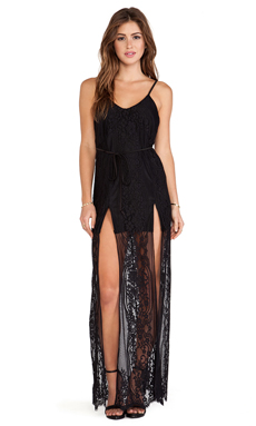 For Love & Lemons Longhorn Maxi en Noir
