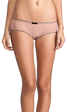 SKIVVIES by For Love & Lemons Very French Cheeky Pant in Blush & Black