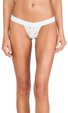 SKIVVIES by For Love & Lemons X REVOLVE Le Fleur Lace Thong in Mint
