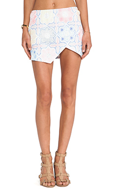 For Love & Lemons Ole Skirt in Tile Print