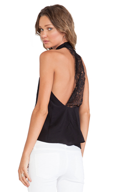 For Love & Lemons Justines Tank in Black