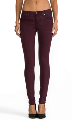 Frankie B. Jeans Perfect Skinny in Slick Bordeaux
